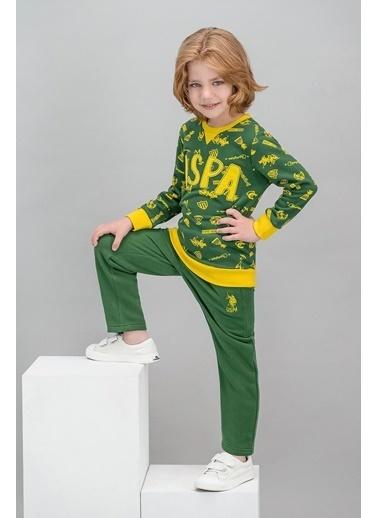 U.S. Polo Assn. Lisanslı Erkek Çocuk Eşofman Takımı Yeşil